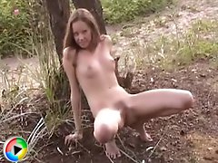 Nice Brunette Teen Outdoors