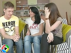 Fascinating videos of two adorable teen hotties hardcoded in their precious asses on sofa.